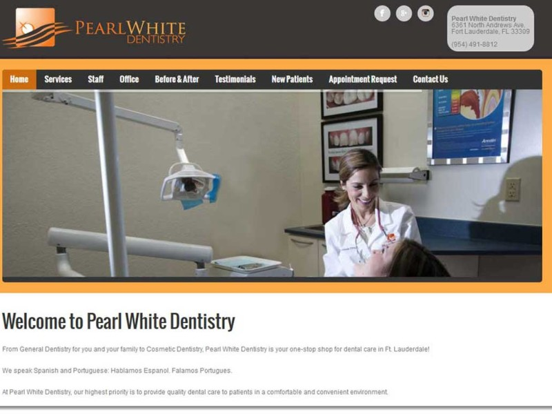 Homepage - Dentist Web Design